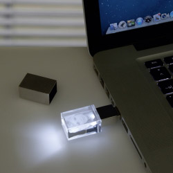 Fotogeschenke USB Stick Glasfoto 3D