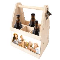 Fotogeschenke Foto Beer Caddy - Bier Flaschenträger