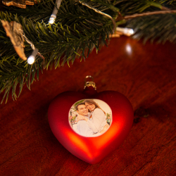 Fotogeschenke Weihnachtsherz mit Foto rot