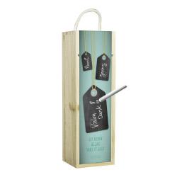 contento Weinbox grün mit Tafelfunktion