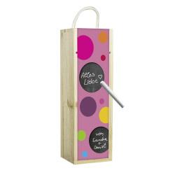 contento Weinbox Kreise Pink mit Tafelfunktion