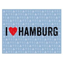 contento Tischset Vinyl I LOVE HAMBURG