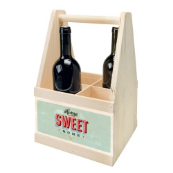 contento Wine Caddy HOME SWEET HOME