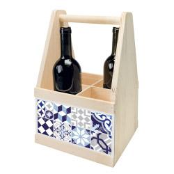 contento Wine Caddy MOSAIK BLAU