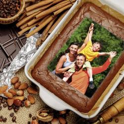 Fotogeschenke Tortenbild 20 x 27,7 cm hoch mit eigenem Foto
