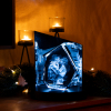 3D Glasfoto DIAMOND M + Clarisso® Sockel - SET