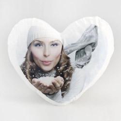 Fotogeschenke Foto Soft Kissen Herz mit eigenem Bild
