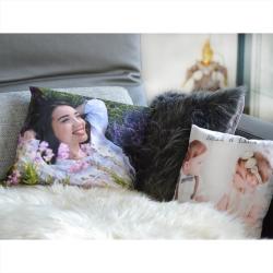 Fotogeschenke Premium Foto Kissen 30x30 beidseitig bedruckt