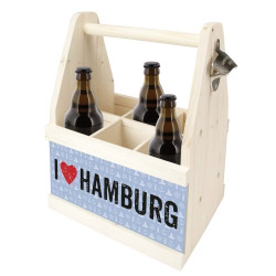 contento Beer Caddy I LOVE HAMBURG