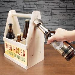 contento Beer Caddy BIER HOLEN IST AUCH BEWEGUNG