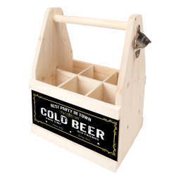 contento Beer Caddy BEST PARTY IN TOWN COLD BEER