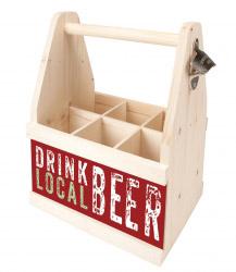 contento Beer Caddy DRINK LOCAL BEER