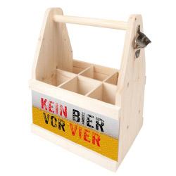 contento Beer Caddy KEIN BIER VOR VIER