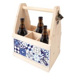 contento Beer Caddy MOSAIK GRAU-BLAU