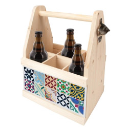 contento Beer Caddy MOSAIK BUNT