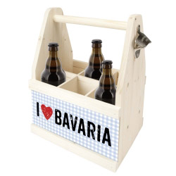 contento Beer Caddy I LOVE BAVARIA