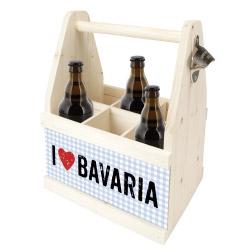 contento Beer Caddy I LOVE BAVARIA