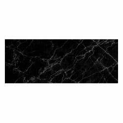 contento Vinyl Teppich MATTEO 70x180 cm Marmor Schwarz