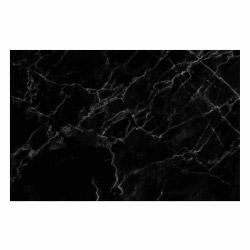 contento Vinyl Teppich MATTEO 118x180 cm Marmor Schwarz