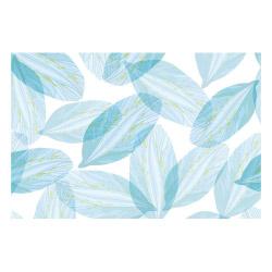 contento Vinyl Teppich MATTEO 60x90 cm Blue Leaves
