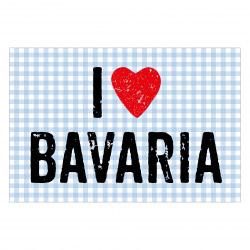 contento Matteo Vinyl Teppich 60x90 cm  I LOVE BAVARIA