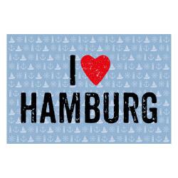 contento Matteo Vinyl Teppich 60x90 cm  I LOVE HAMBURG