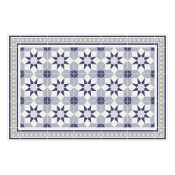 contento Vinyl Teppich MATTEO 60x90 cm Fliesen 6 Blau