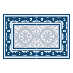 contento Vinyl Teppich MATTEO 60x90 cm Fliesen 8 Blau