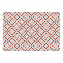 contento Vinyl Teppich MATTEO 60x90 cm Leinen 7 Rot