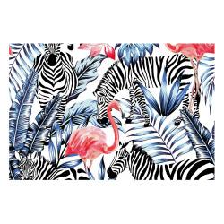 contento Vinyl Teppich MATTEO 60x90 cm Flamingo & Zebra