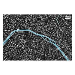 contento Vinyl Teppich MATTEO 60x90 cm Paris City Map S/W