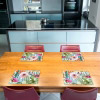 Tischset Vinyl Fliesen 3 Bunt