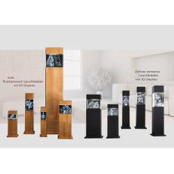 Fotogeschenke Leuchtstele Holz S quer für 90x60x60 quer