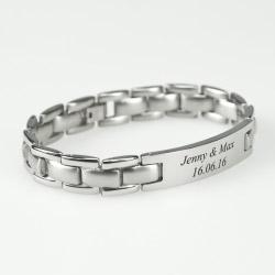 Fotogeschenke Gravur Edelstahl Armband Herren