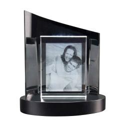 Fotogeschenke 2D Glasframe + Clarisso® Sockel - SET - 140x105x35 hoch