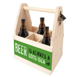 contento Beer Caddy BEER IS ALWAYS A GOOD IDEA