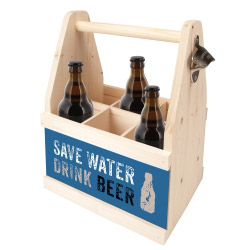 contento Beer Caddy SAVE WATER DRINK BEER