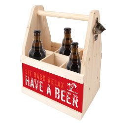 contento Beer Caddy SIT BACK RELAX HAVE A BEER