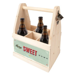 contento Beer Caddy HOME SWEET HOME