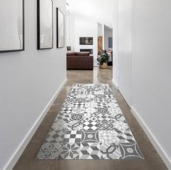 contento MATTEO Vinyl Teppich 60x90 cm - Mosaik Grau