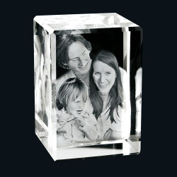 Fotogeschenke Foto in 3D Portrait - Glasblock