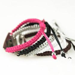 Fotogeschenke Gravur Armband Kordel pink