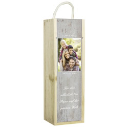 Fotogeschenke Weinbox personalisiert mit Foto und Text
