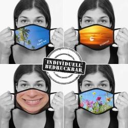 Fotogeschenke Mund-Nasen-Bedeckung schwarz PERSONALISIERT