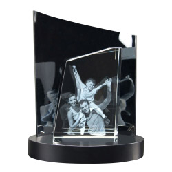 Fotogeschenke 3D Glasfoto TOWER L + Clarisso® Sockel - SET