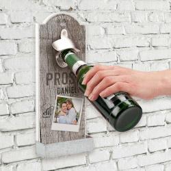 Fotogeschenke Wandflaschenöffner mit Ihrem Foto - Hochformat