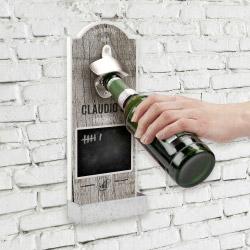 Fotogeschenke Wand-Flaschenöffner mit Kreide - personalisiert