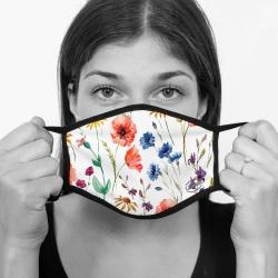 contento Lamask Mund-Nasen-Bedeckung FLOWERS