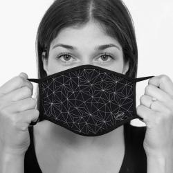 contento Lamask Mund-Nasen-Bedeckung TRIANGEL SCHWARZ