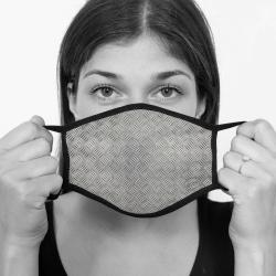 contento Lamask Mund-Nasen-Bedeckung NATURAL RIFFELBLECH